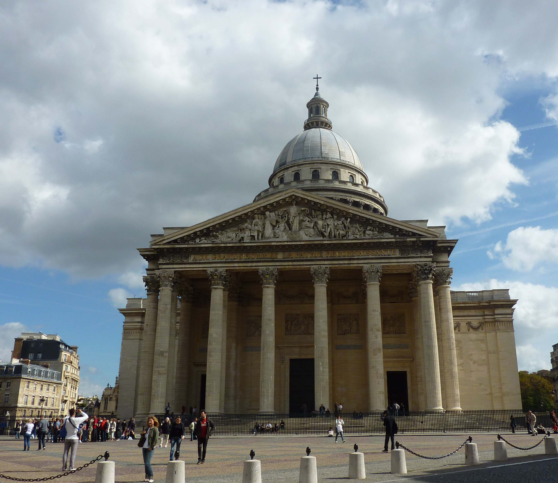 Panthéon Paris, Fassade