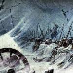 Nächtlicher Biwak der Armee Napoleons während des Rückzugs aus Russland im Jahre 1812. Ölgemälde auf Leinwand Vasily Vereshchagin, Historische Museum, Moskau