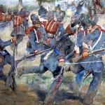 Détail du fresque de la bataille de Goito (1848) par Veronese di Stefano