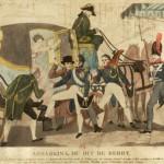 Die Ermordung des Duc de Berry, Sohn des künftigen Karl X. und Thronfolger von Frankreich: Am 13. Februar 1820 stach der Sattler Louvel den Herzog von Berry am Ausgang der Oper von Paris nieder. Das Attentat führte zu einer politischen Krise der Dynastie der Bourbonen und der Regentschaft Ludwigs XVIII. In der Folgezeit gewannen die reaktionären Kräfte Überhand, sie warfen der Regierung um Decazes vor, durch eine zu liberale Politik die Hauptverantwortung an dem Attentat zu tragen.
